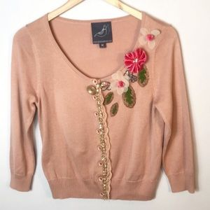 Anthropologie | Knitted Dove Cardigan